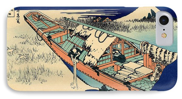 Ushibori In The Hitachi Province IPhone 7 Case by Hokusai