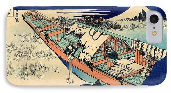 Ushibori In The Hitachi Province IPhone Case by Hokusai
