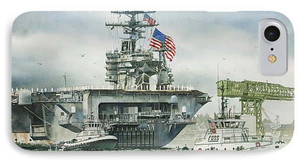 Uss Carl Vinson Phone Case by James Williamson