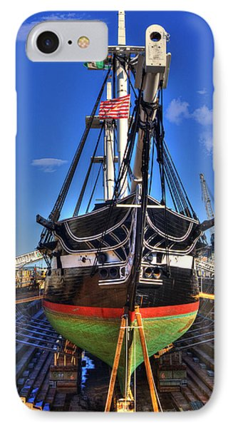 Uss Constitution - Boston Ma IPhone Case by Joann Vitali
