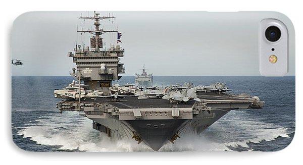 Uss Enterprise Transits The Atlantic IPhone Case by Stocktrek Images