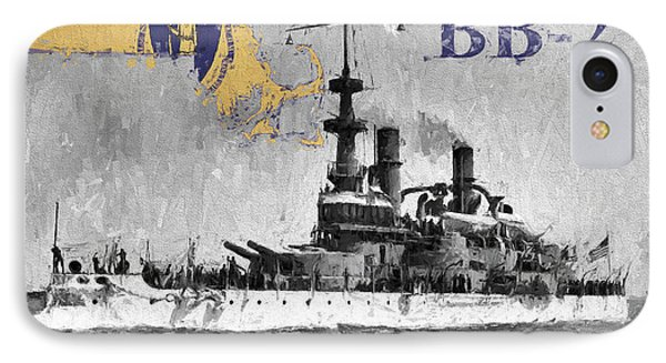 Uss Massachusetts B B-2 IPhone Case by JC Findley