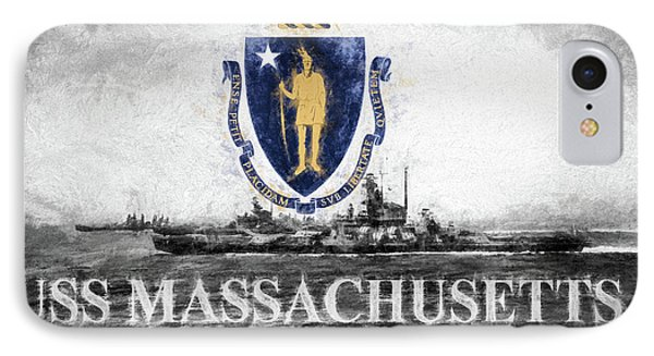 Uss Massachusetts IPhone Case by JC Findley