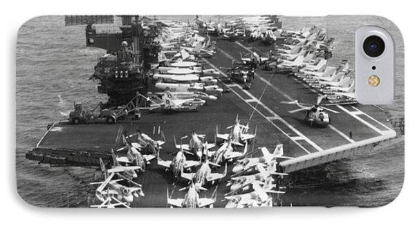Uss Midway Leaves Sf IPhone Case by Underwood Archives