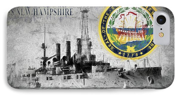 Uss New Hampshire IPhone Case by JC Findley