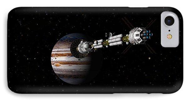 Uss Savannah Approaching Jupiter IPhone Case by David Robinson