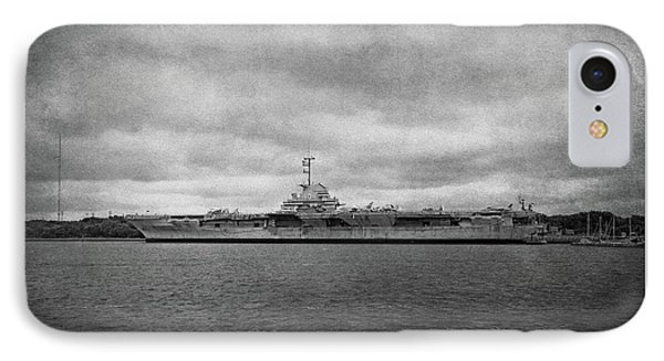 IPhone Case featuring the photograph Uss Yorktown by Sandy Keeton