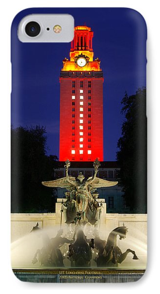 Ut Austin Tower Orange IPhone Case