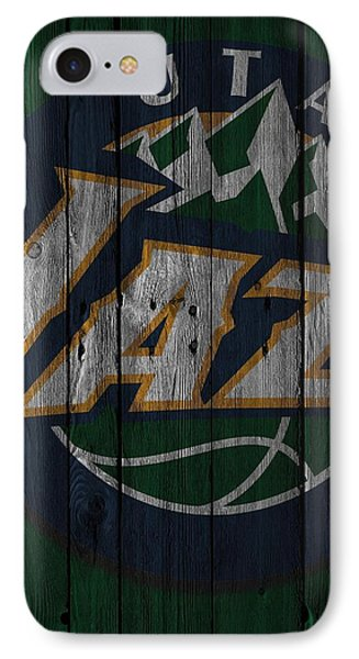 Utah Jazz Wood Fence IPhone Case