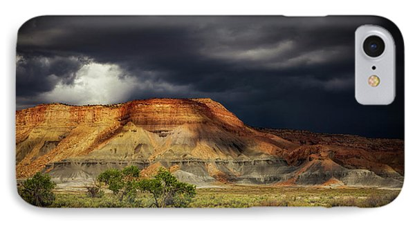 IPhone Case featuring the photograph Utah Mountain With Storm Clouds by John A Rodriguez