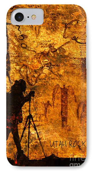 IPhone Case featuring the photograph Utah Rock Art Montage by Marianne Jensen