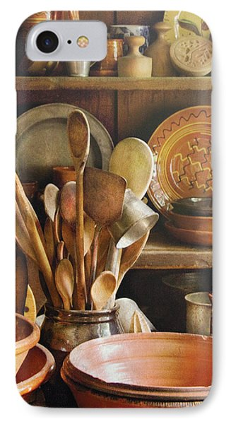 Utensils - Remembering Momma Phone Case by Mike Savad