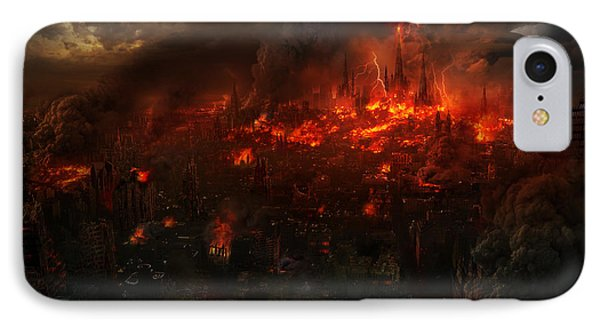 Utherworlds Reckoning Day IPhone Case by Philip Straub