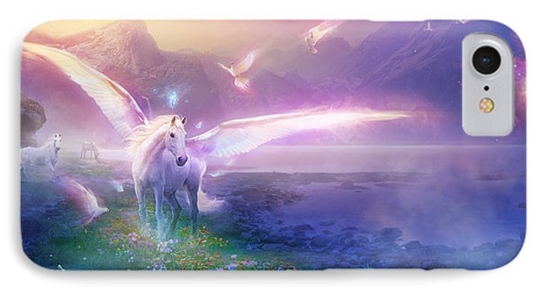 Utherworlds Winter Dawn IPhone Case by Philip Straub