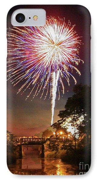Utica Fireworks IPhone Case by Paula Guttilla