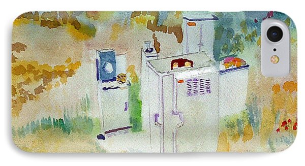 Utility Boxes Near A Forest IPhone Case