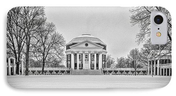 IPhone Case featuring the photograph Uva Rotunda Winter 2016 by Kevin Blackburn
