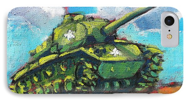 V. F. W. Tank IPhone Case by Les Leffingwell