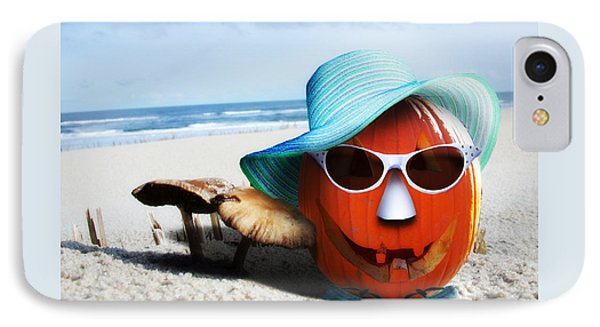 Vacationing Jack-o-lantern IPhone Case by Gravityx9 Designs