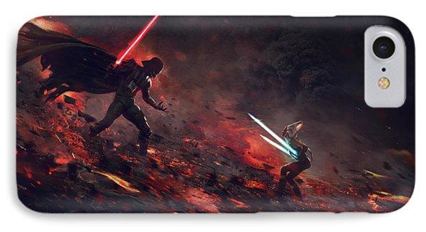 Vader Vs Ahsoka IPhone Case by Guillem H Pongiluppi
