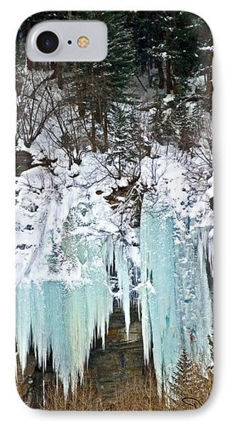 Vail Ice Falls Phone Case by David Salter