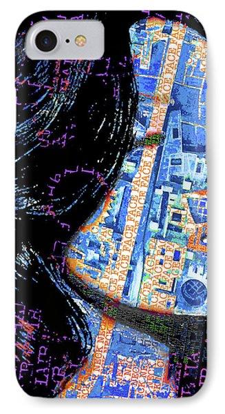 IPhone Case featuring the mixed media Vain by Tony Rubino