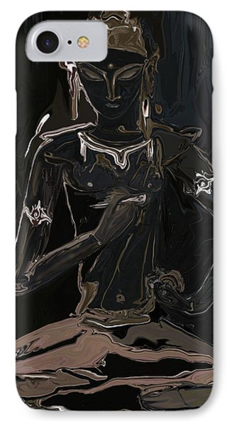 IPhone Case featuring the digital art Vajrasattva by Rabi Khan