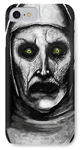 IPhone Case featuring the digital art Valak The Demon Nun by Taylan Apukovska