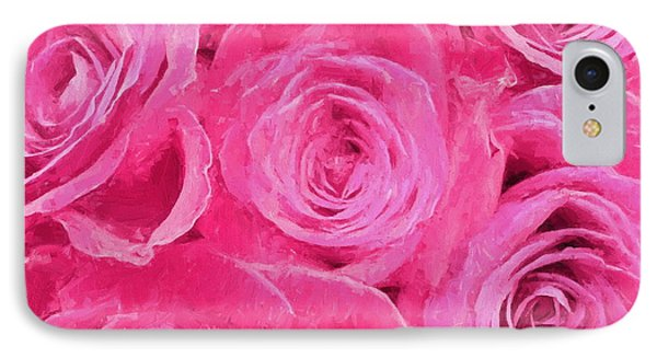Valentine Bouquet Of Pink Roses IPhone Case by Andrea Kollo