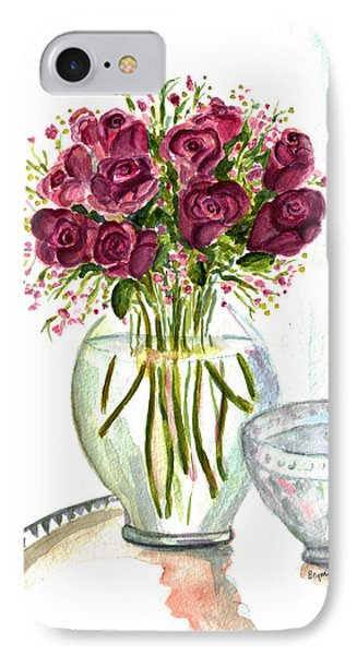 Valentines Crystal Rose IPhone Case by Clara Sue Beym