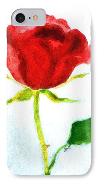 Valentine's Day Rose Phone Case by Claire Bull