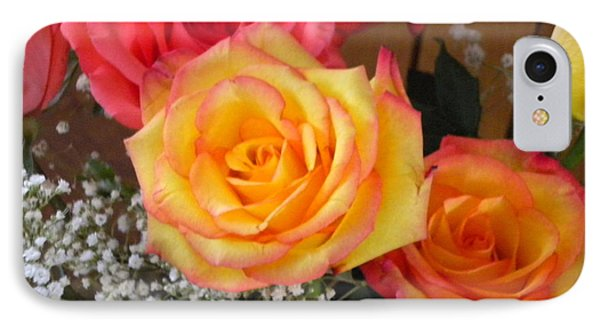 IPhone Case featuring the painting Valentine's Day Roses 2 by Renate Nadi Wesley