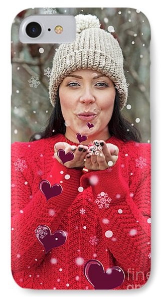 IPhone Case featuring the photograph Valentines Kisses... by Nina Stavlund