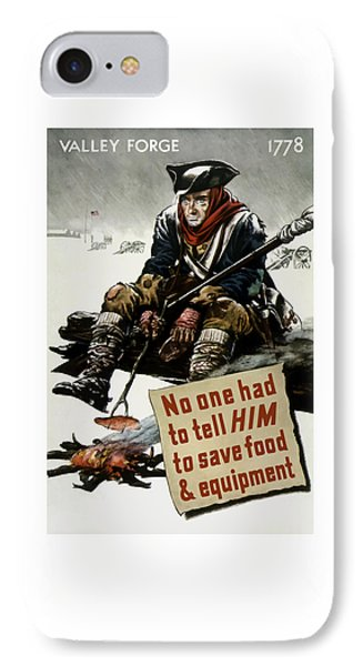 Valley Forge Soldier - Conservation Propaganda Phone Case by War Is Hell Store