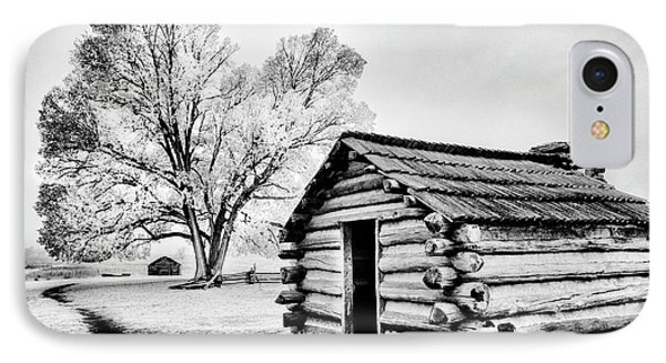 IPhone Case featuring the photograph Valley Forge Winter Troops Hut                           by Paul W Faust - Impressions of Light