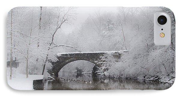 Valley Green Bridge In The Snow IPhone Case