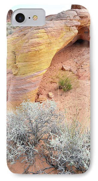 IPhone Case featuring the photograph Valley Of Fire Arch Of Color by Ray Mathis
