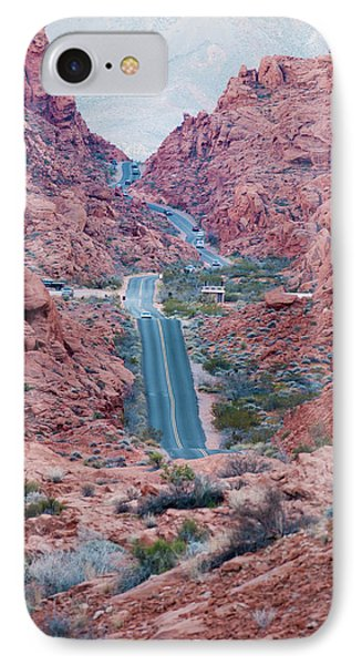 Valley Of Fire Drive Phone Case by Rae Tucker