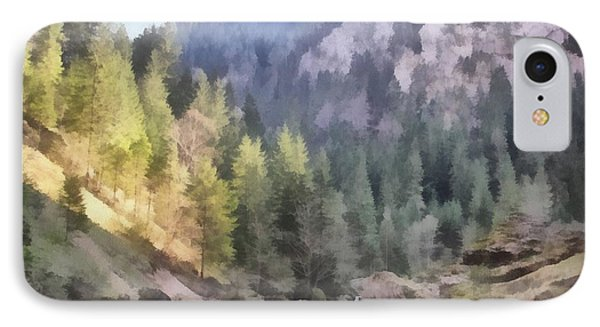 Valley Of Light And Shadow Phone Case by Jeffrey Kolker