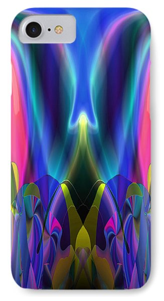IPhone Case featuring the digital art Valley Of The Mythic Waterfall by Lynda Lehmann