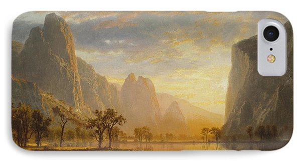Valley Of The Yosemite, 1864 IPhone Case