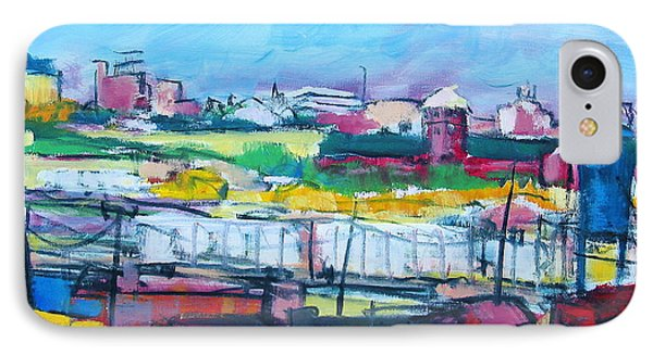 IPhone Case featuring the painting Valley Yard by Les Leffingwell