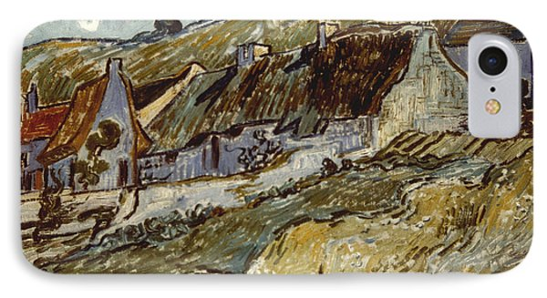 Van Gogh: Cottages, 1890 Phone Case by Granger