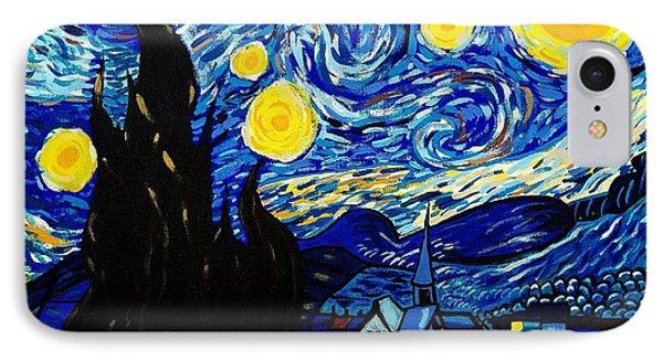 Van Gogh Starry Night  IPhone Case by Scott D Van Osdol