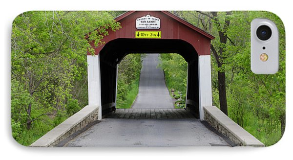 Van Sandt Covered Bridge - Bucks County Pa IPhone Case by Bill Cannon