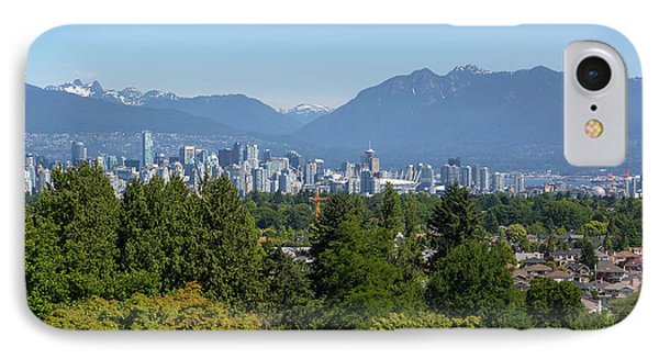 Vancouver Bc City Skyline From Queen Elizabeth Park Phone Case by David Gn