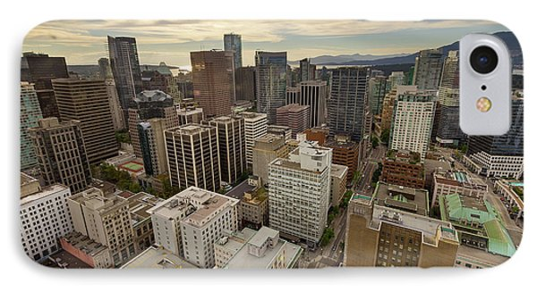 Vancouver Bc Cityscape Aerial View Phone Case by David Gn
