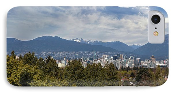 Vancouver Bc Skyline Daytime View Phone Case by David Gn