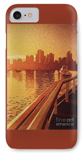 IPhone Case featuring the painting Vancouver Morning- Bc by Ryan Fox