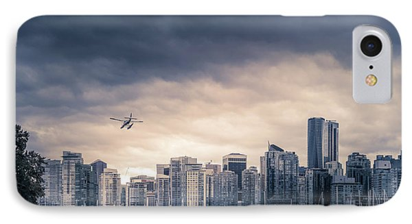 City Sunset iPhone 7 Case - Vancouver Skyline by Art Spectrum